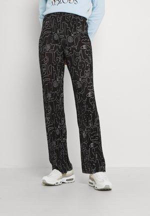 CLARA TROUSERS - Kalhoty - black