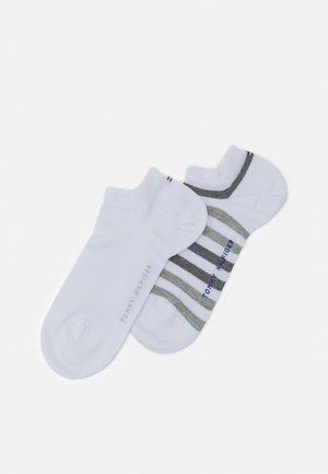MEN DUO STRIPE SNEAKER 2 PACK - Trainer socks - white