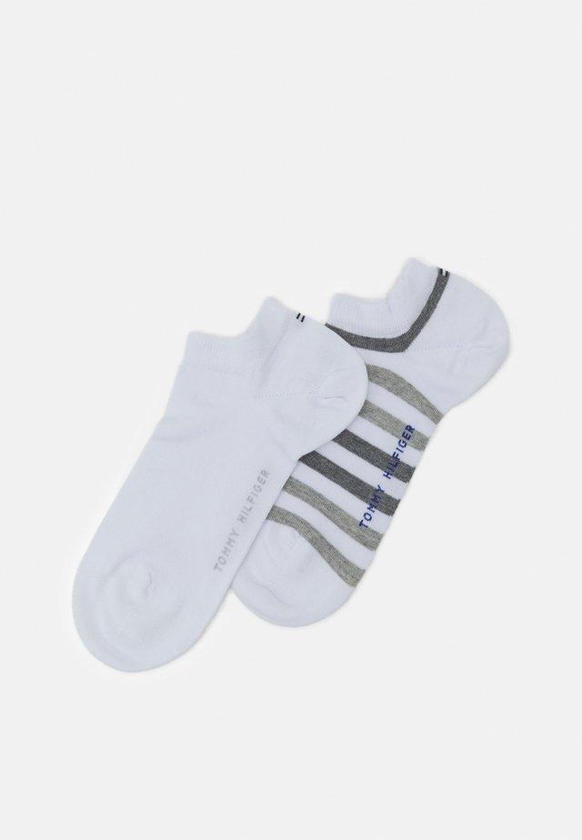 MEN DUO STRIPE SNEAKER 2 PACK - Trainer socks - white