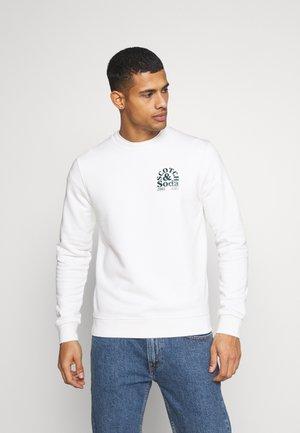 CREW NECK LOGO - Collegepaita - off white