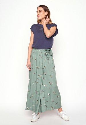 NOBLE FEATHERS - Maxi skirt - olive