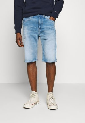 REY RELAXED - Denim shorts - quince light blue
