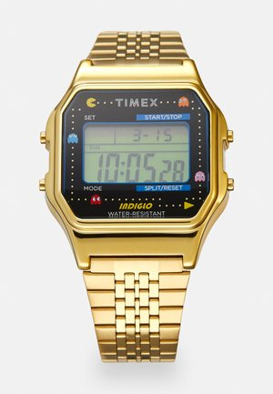 T80 PAC MAN UNISEX - Digital watch - gold-coloured