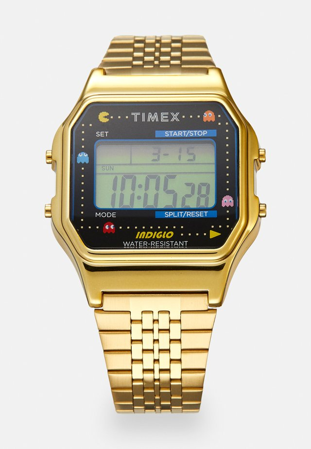T80 PAC MAN UNISEX - Digitalklokke - gold-coloured