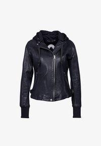 GLANCE UP-FN - Leather jacket - black