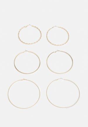 BERRADDA 3 PACK - Earrings - bright gold-coloured