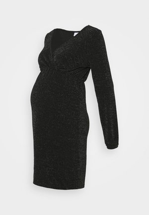 MLJENNI TESS DRESS  - Jersey dress - black/silver glitter