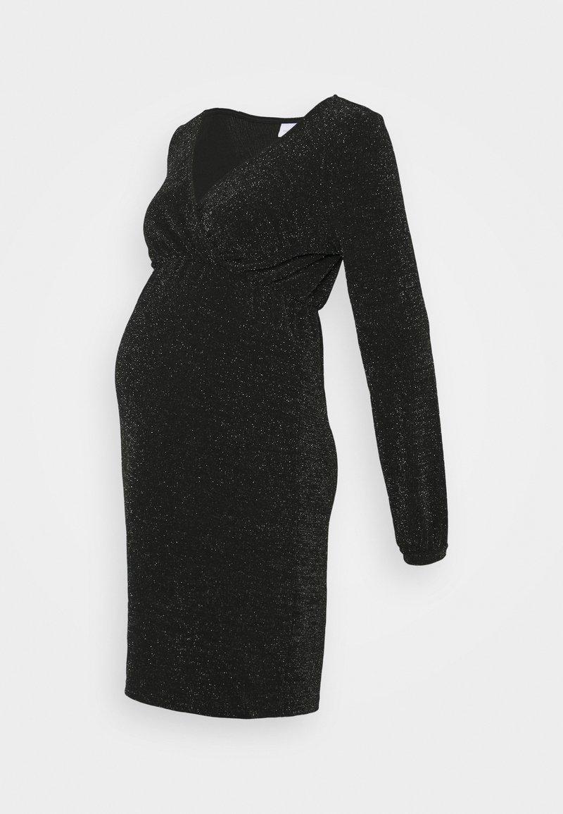 MAMALICIOUS - MLJENNI TESS DRESS  - Vestido ligero - black/silver glitter