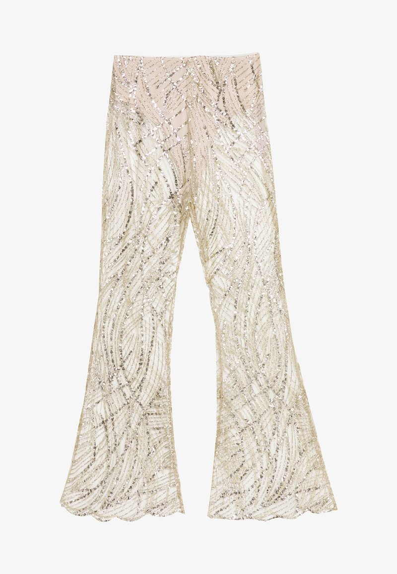 Missguided - GLITTER TROUSERS - Pantalones - gold