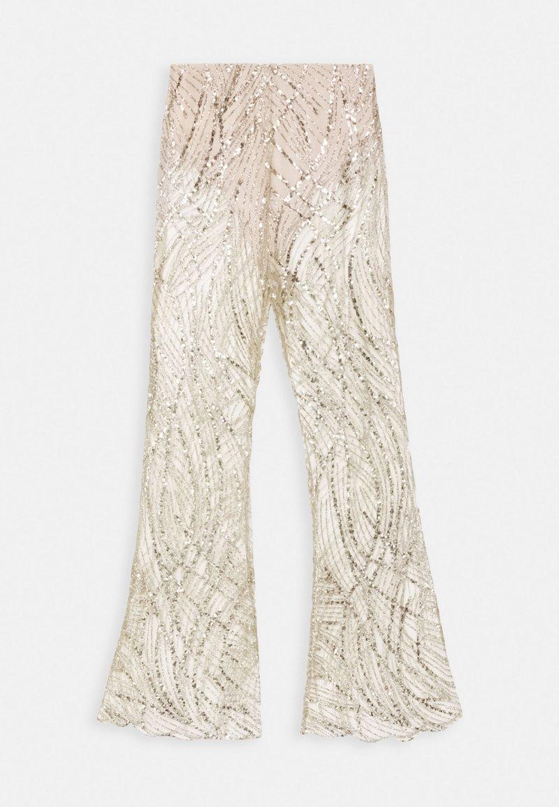 Missguided - GLITTER TROUSERS - Pantaloni - gold