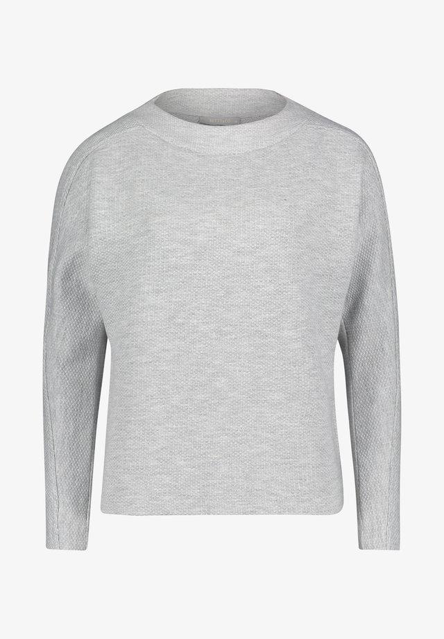 MIT STRUKTUR - Pullover - grau weiß