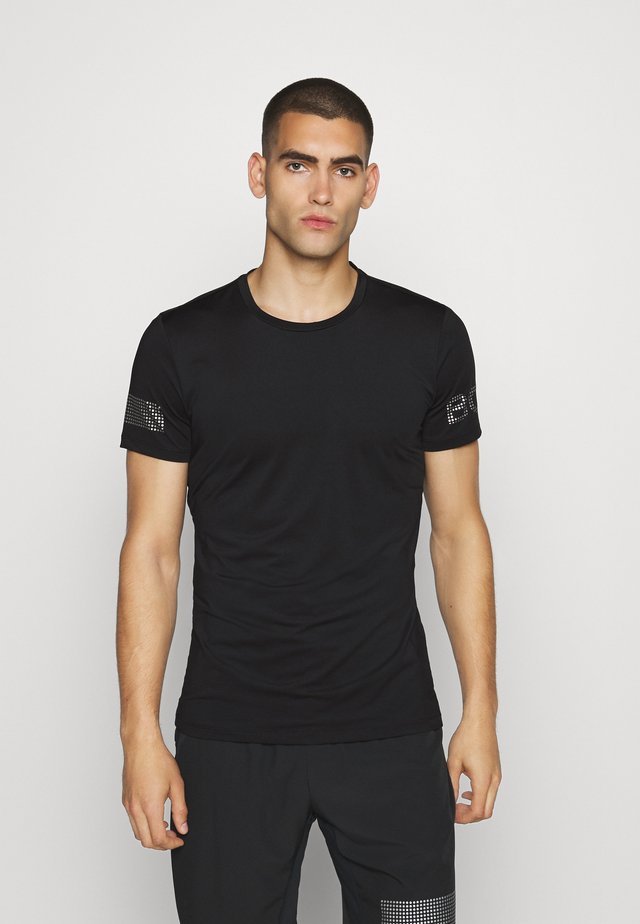 MEDAL TEE - Print T-shirt - black/silver