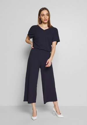 V-NECK WIDE LEG - Mono - night sky