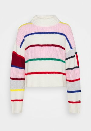 FLAG SLEEVE - Jumper - romantic pink /multi