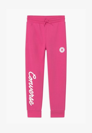 SIGNATURE CHUCK PATCH - Tracksuit bottoms - mod pink