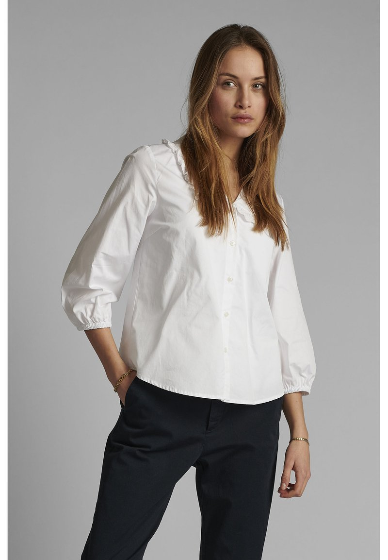 Nümph - Button-down blouse - bright white
