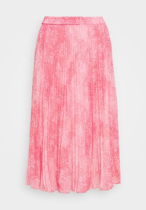 PLEATED SKIRT - A-line skirt - geranium
