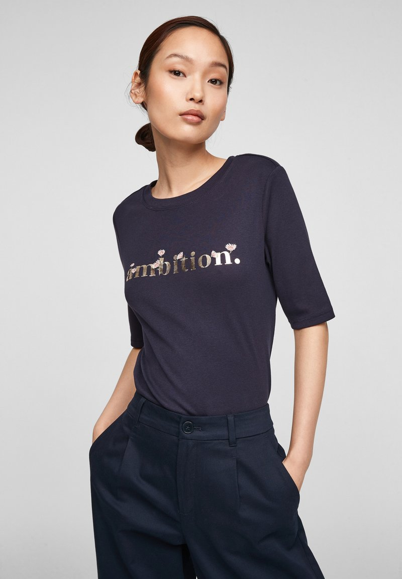 s.Oliver - Print T-shirt - navy ambition print