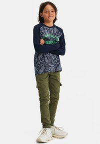 WE Fashion - Cargo trousers - army green - 1