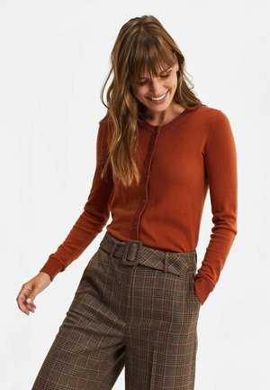 Cardigan - rust brown