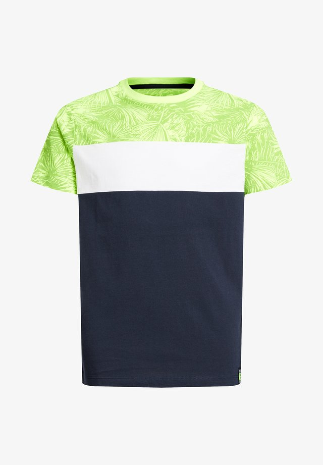 MET COLOURBLOCK - T-shirt print - yellow