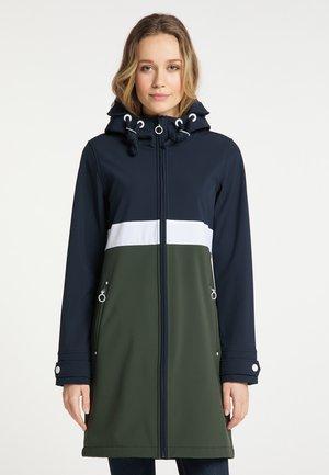 Classic coat - nachtblau dunkeloliv
