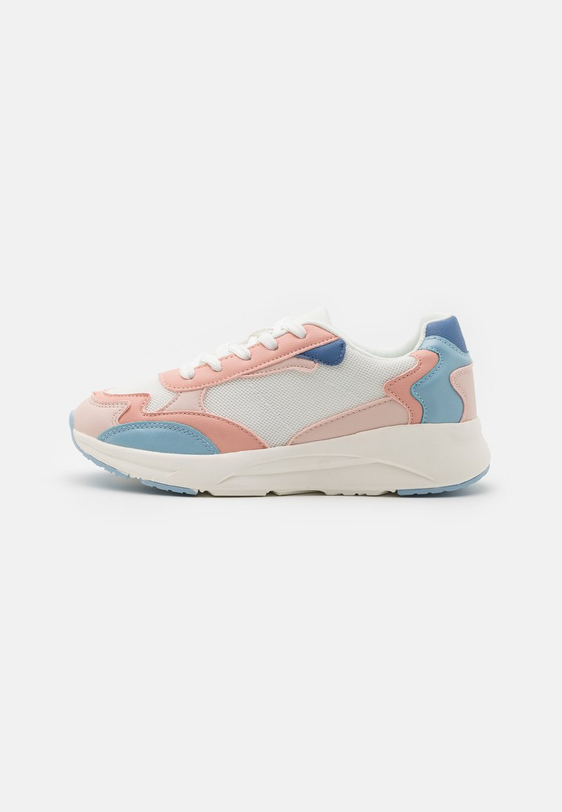 Even&Odd - Sneakersy niskie - white/light pink/blue