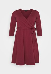 Dorothy Perkins Curve - WRAP DRESS - Day dress - berry - 5