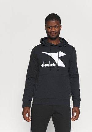 HOODIE BIG LOGO - Sweatshirt - black