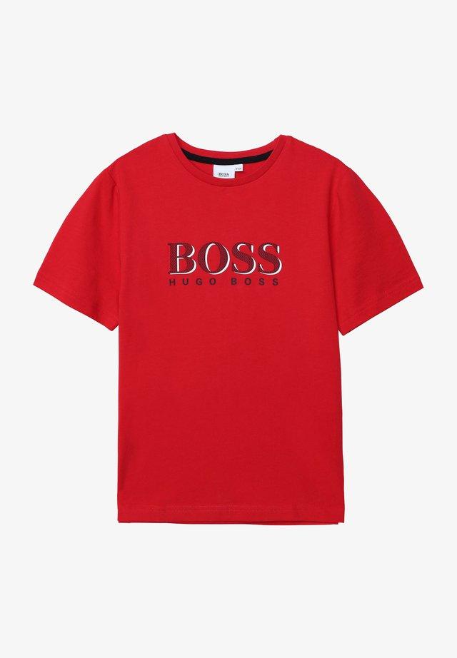 T-shirt imprimé - rouge ecarlate