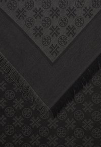 Tory Burch - LOGO TRAVELER SCARF - Chusta - black - 2