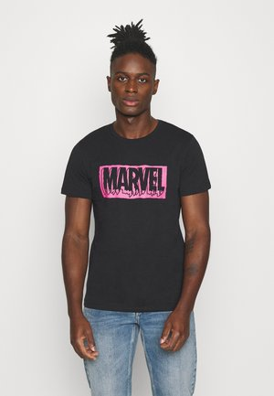 JORMARVEL TEE  CREW NECK  - Print T-shirt - black