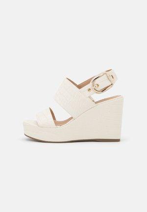 NOLITA - Sandály na platformě - cream