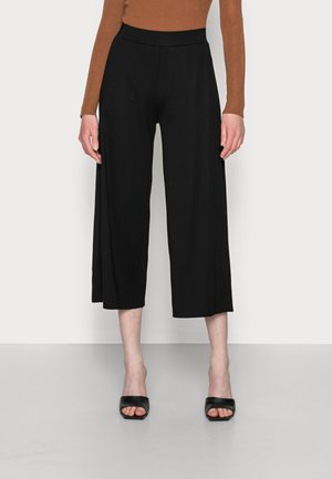 CULOTTE CROPPED LENGTH ELASTIC WAISTBAND AT BACK - Tracksuit bottoms - black