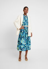 Rich & Royal - DRESS WITH PIN TUCKS - Day dress - multi-coloured/dark blue/neon green - 2
