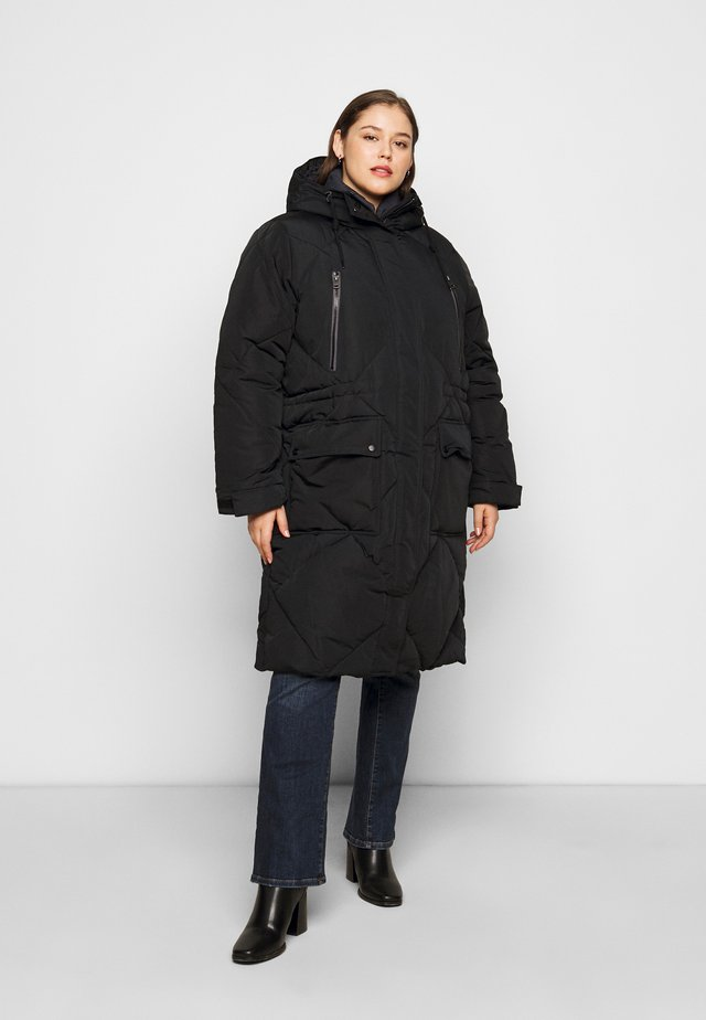 ELONGATED PUFFER - Mantel - black