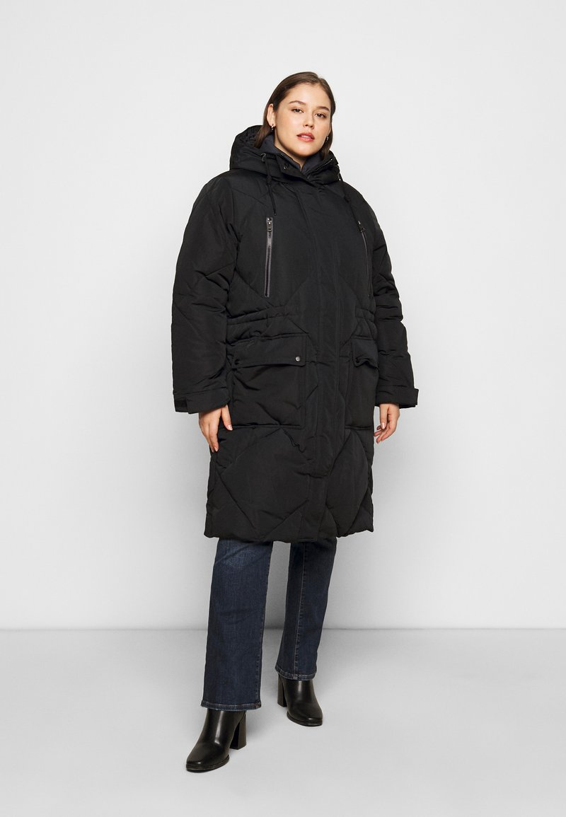 Lee Plus - ELONGATED PUFFER - Classic coat - black