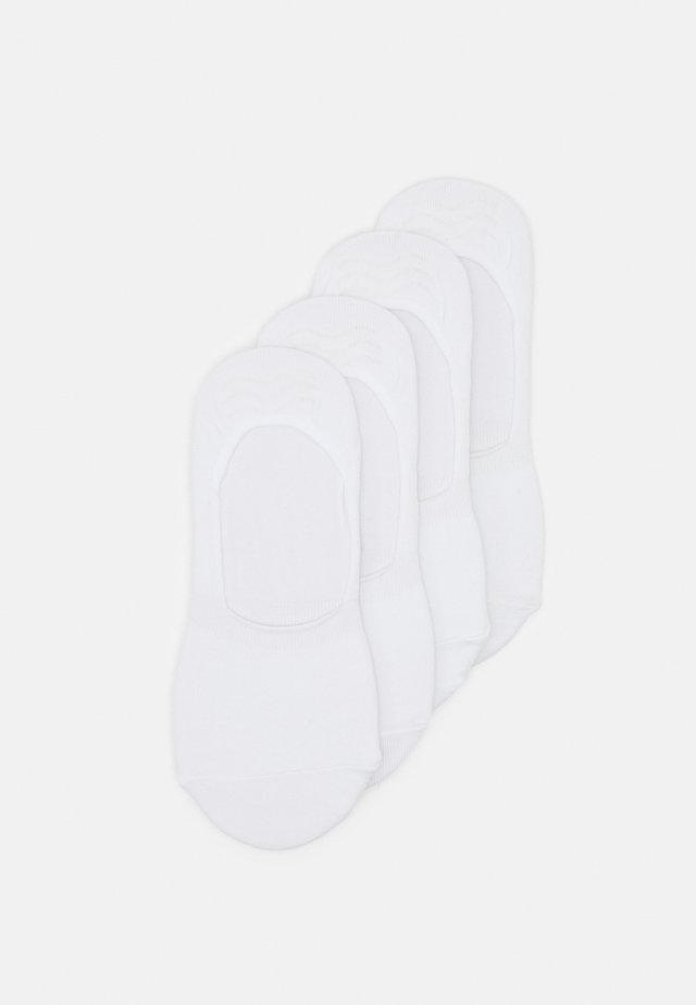 PCGILLY FOOTIES 4 PACK - Stopki - bright white