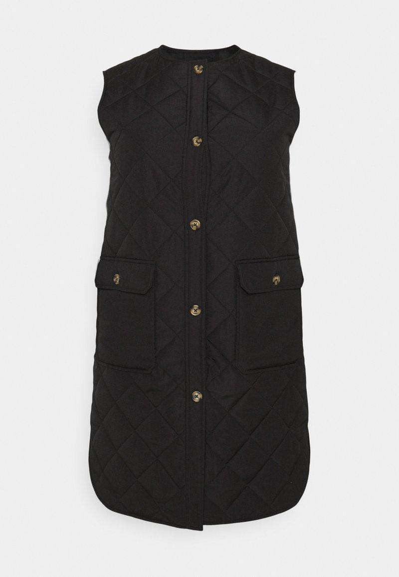 ONLY Carmakoma - CARNAYRA QUILT VEST - Waistcoat - black