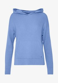 PULLOVER, LONGSLEEVE, WITH HOOD AND PATCHED POCKET, STRUCTURED - Felpa con cappuccio - foggy sky