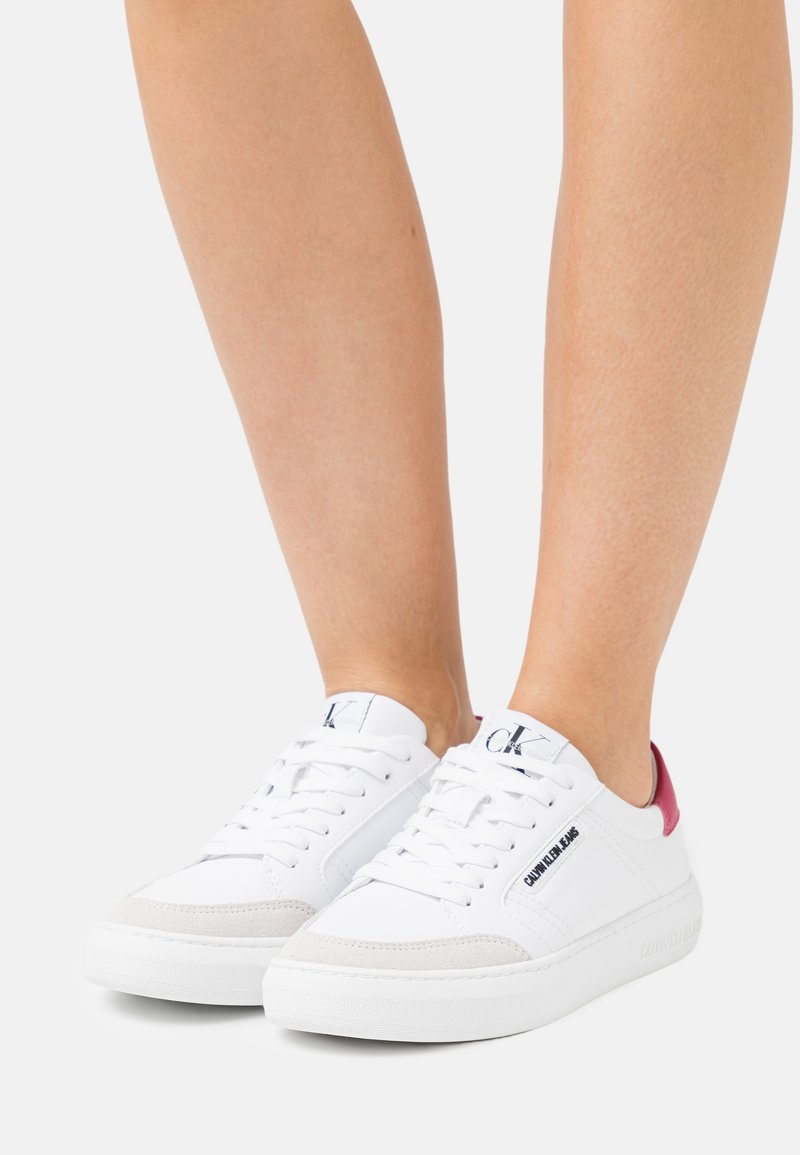 Calvin Klein Jeans - CUPSOLE LACEUP - Baskets basses - bright white