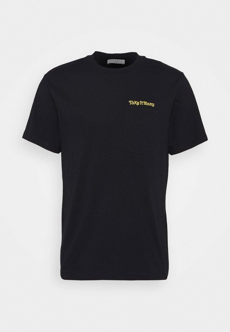 sandro - EASY TEE - Print T-shirt - marine