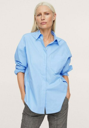 Button-down blouse - hemelsblauw