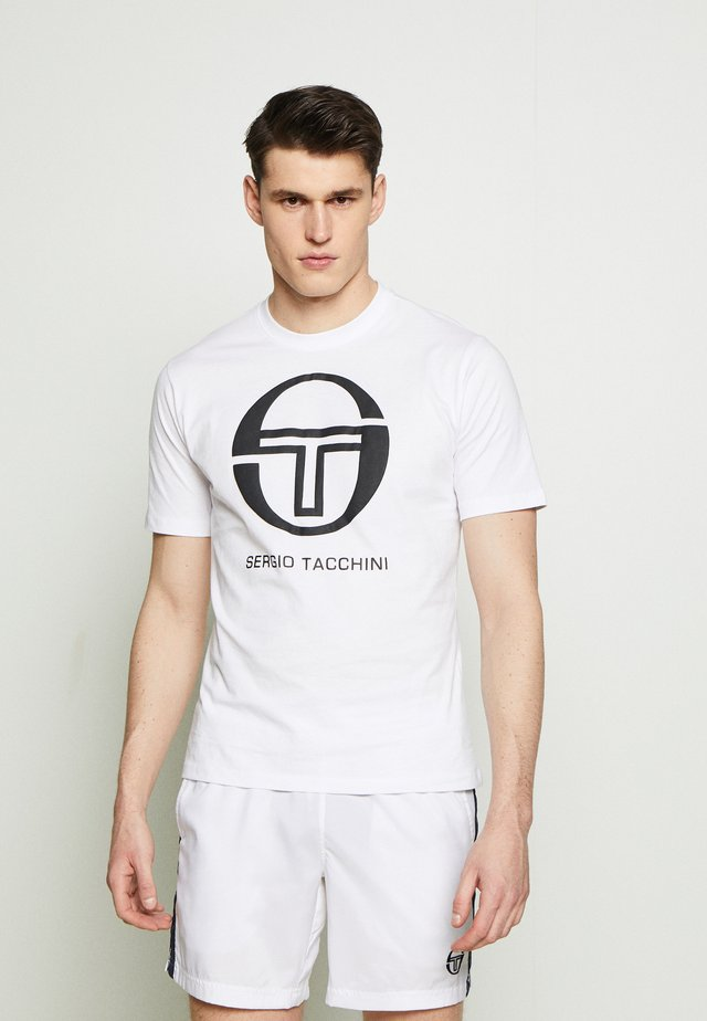 IBERIS - T-shirt z nadrukiem - white/black
