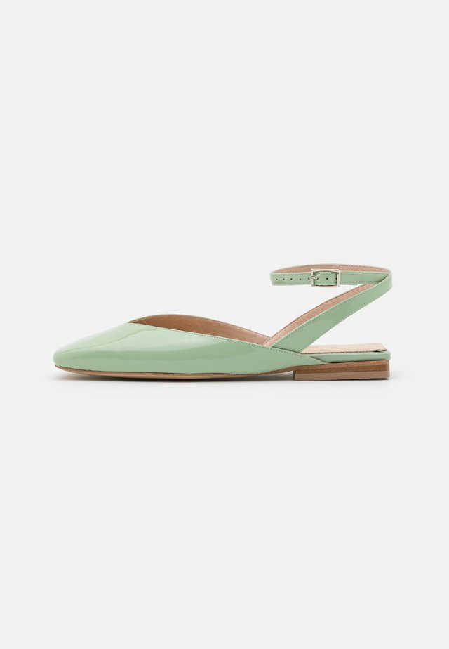 CALAS - Ankle strap ballet pumps - lagon