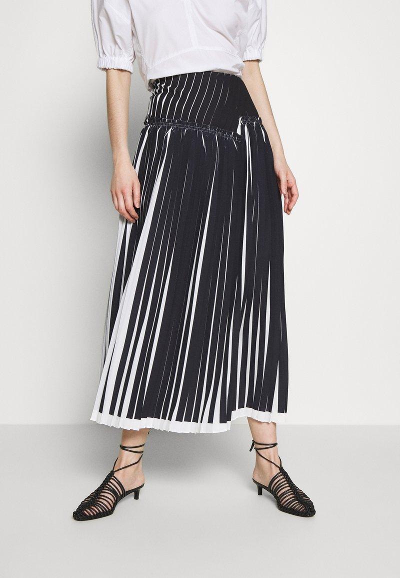 3.1 Phillip Lim - KNIFE PLEATED SKIRT - Maxi skirt - black/white