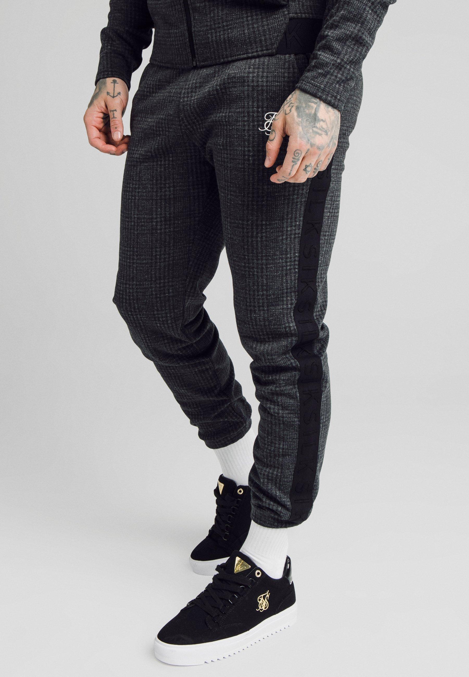 Men TONAL CHECK CUFFED PANTS - Trousers