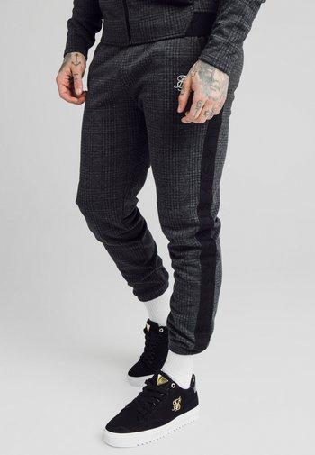 TONAL CHECK CUFFED PANTS - Pantaloni - grey