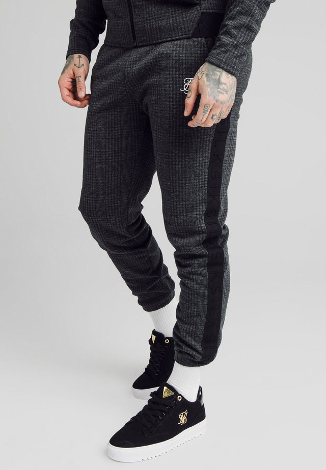 TONAL CHECK CUFFED PANTS - Pantalon classique - grey