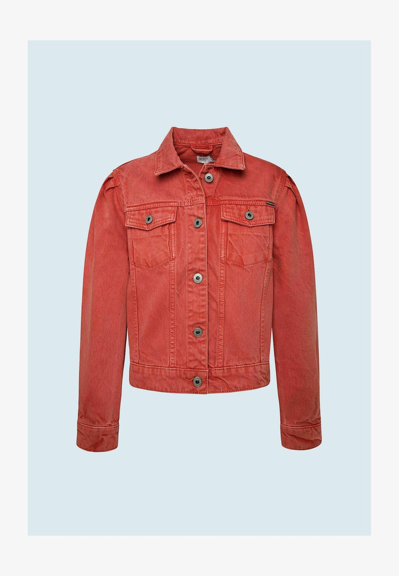 Pepe Jeans - EVERLY  - Denim jacket - rot